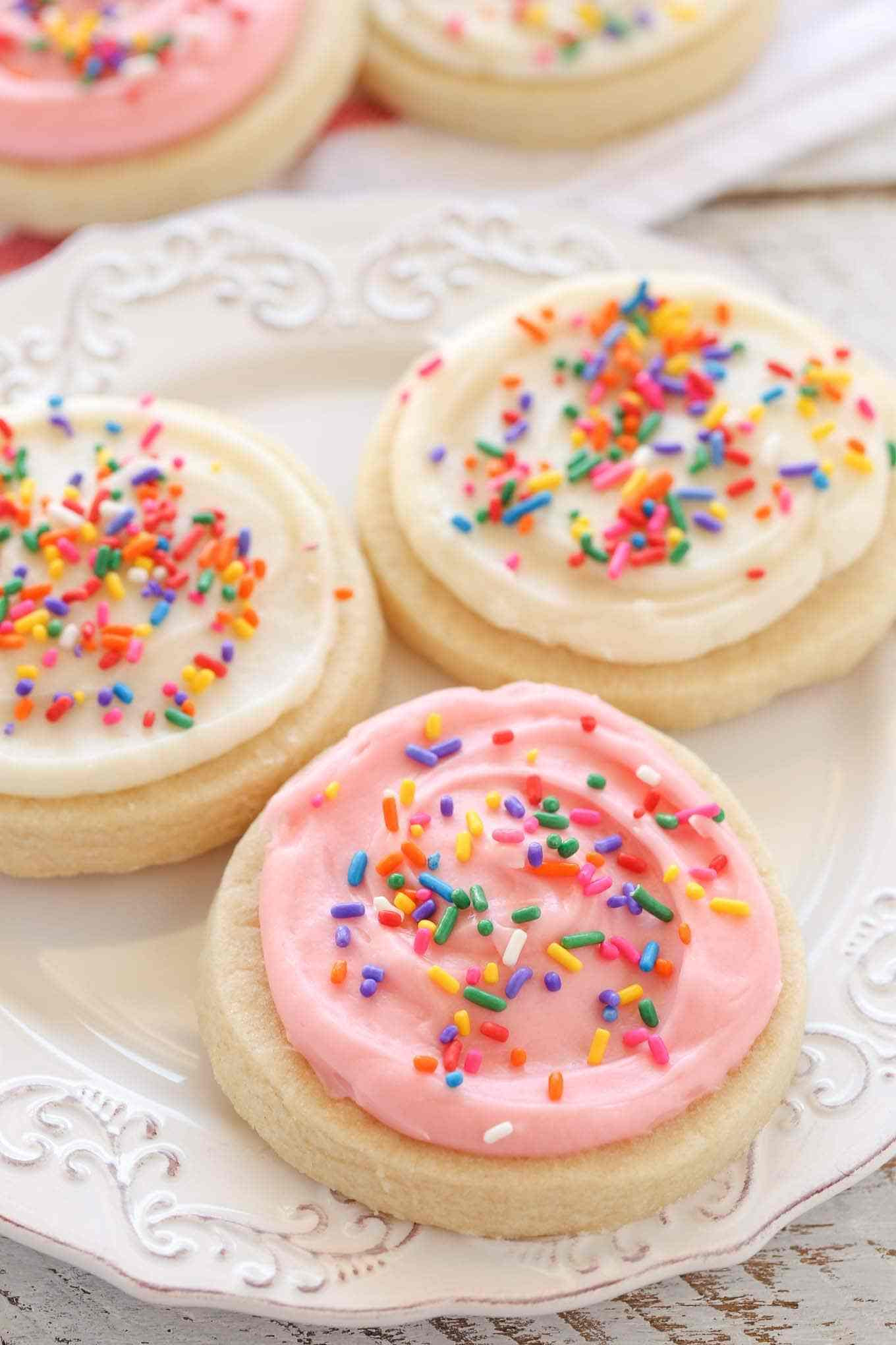 Soft Cut Out Sugar Cookies  Soft Cut Out Sugar Cookies with Cream Cheese Frosting