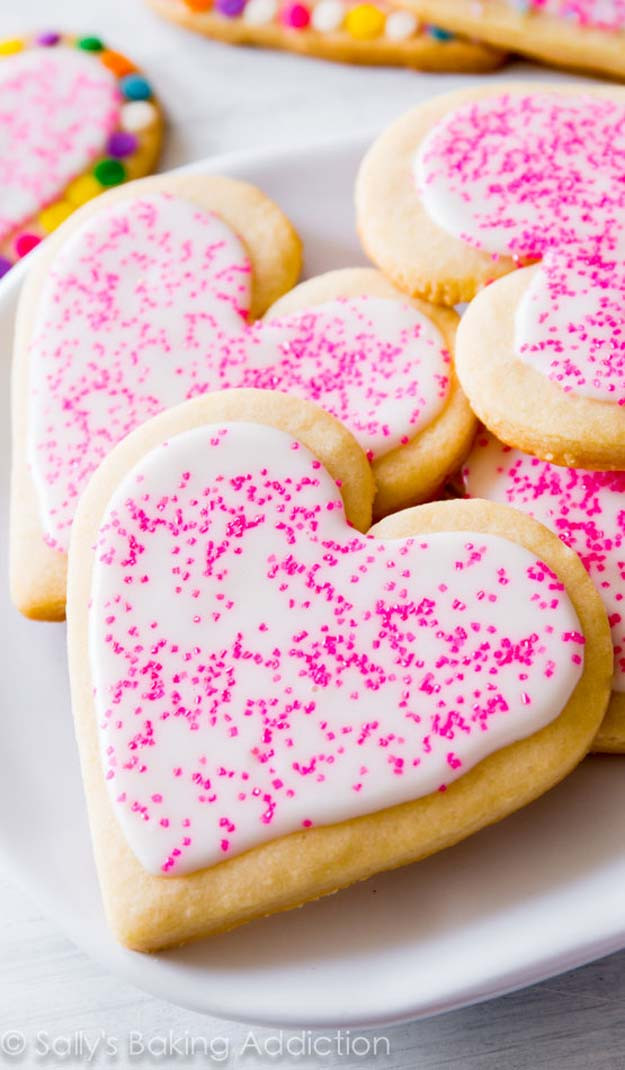 Soft Cut Out Sugar Cookies  41 Easy Valentine Cookie Recipes
