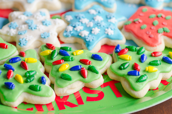 Soft Cut Out Sugar Cookies  Soft Christmas Cut Out Sugar Cookies with Easy Icing