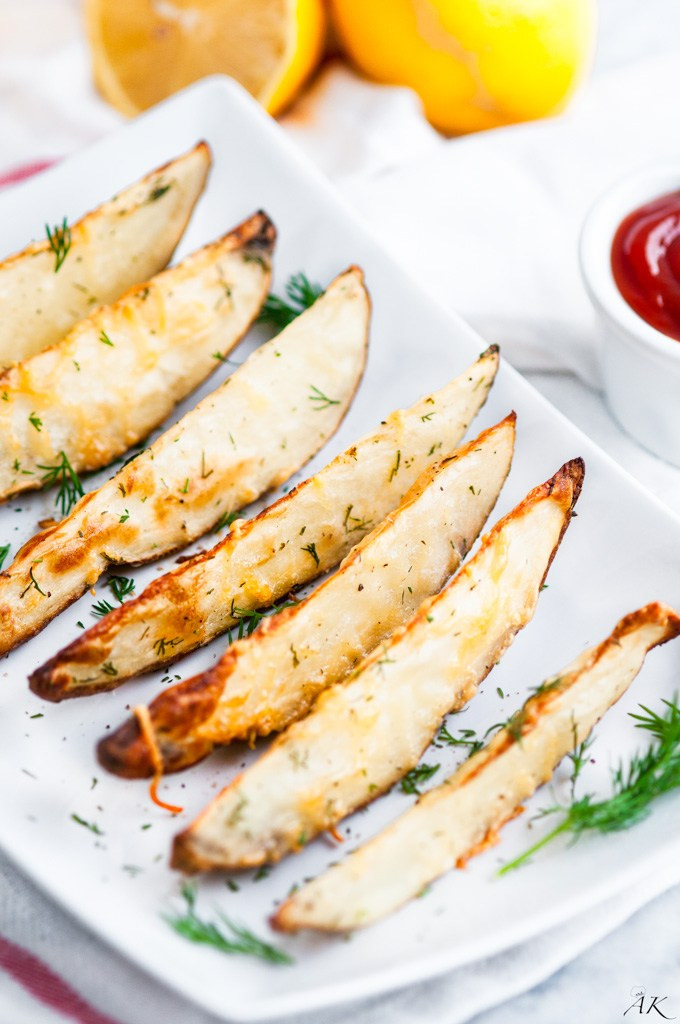 Soggy Potato Games  Roasted Parmesan Dill Potato Wedges Aberdeen s Kitchen