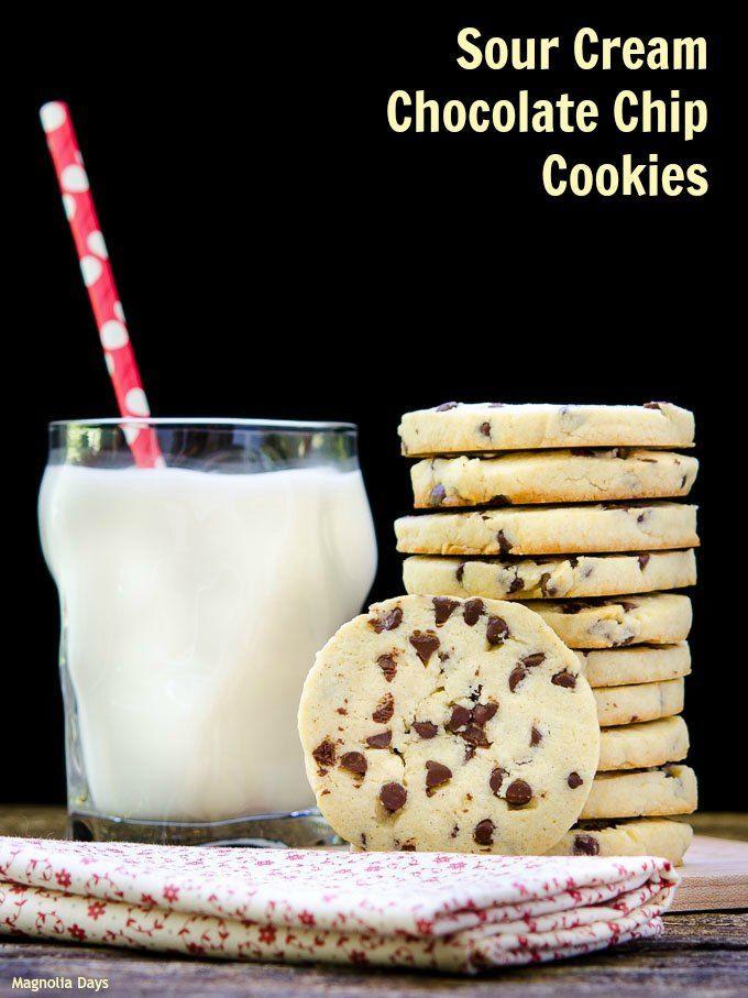 Sour Cream Chocolate Chip Cookies  Sour Cream Chocolate Chip Cookies s and
