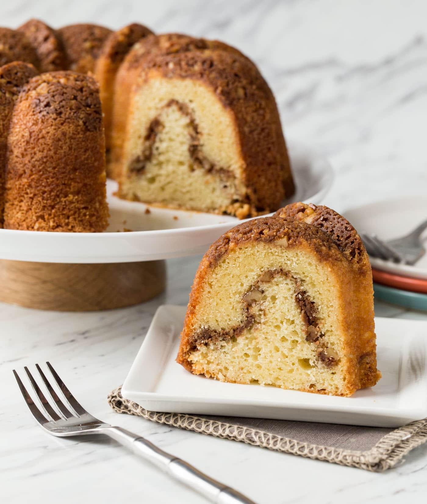 Sour Cream Coffee Cake  Grandma s Sour Cream Coffee Cake Garnish with Lemon