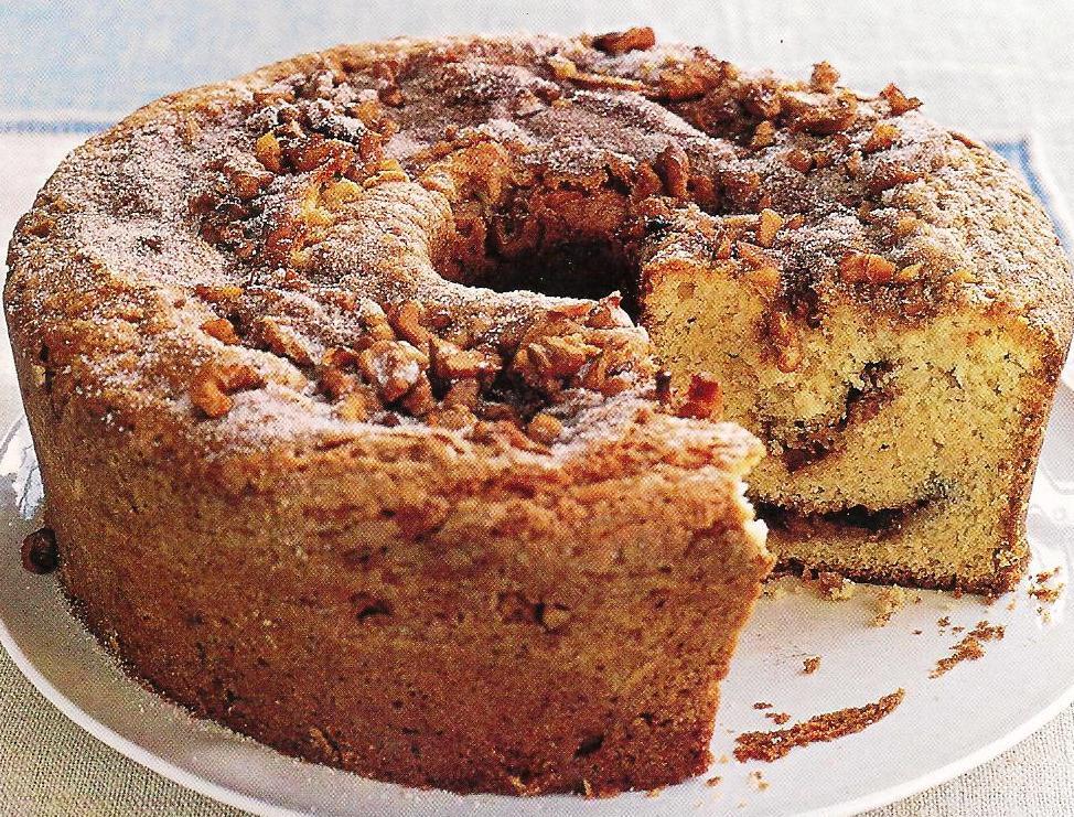 Sour Cream Coffee Cake  Sour Cream Coffee Cake with Cinnamon Walnut Topping