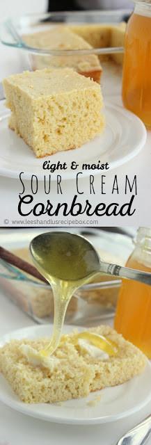 Sour Cream Cornbread  Leesh & Lu s Recipe Box Light & Moist Sour Cream Cornbread