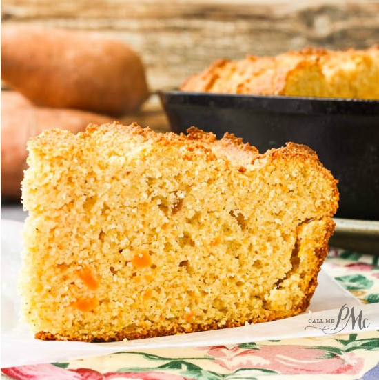 Sour Cream Cornbread  Sweet Potato Sour Cream Cornbread Recipe Call Me PMc