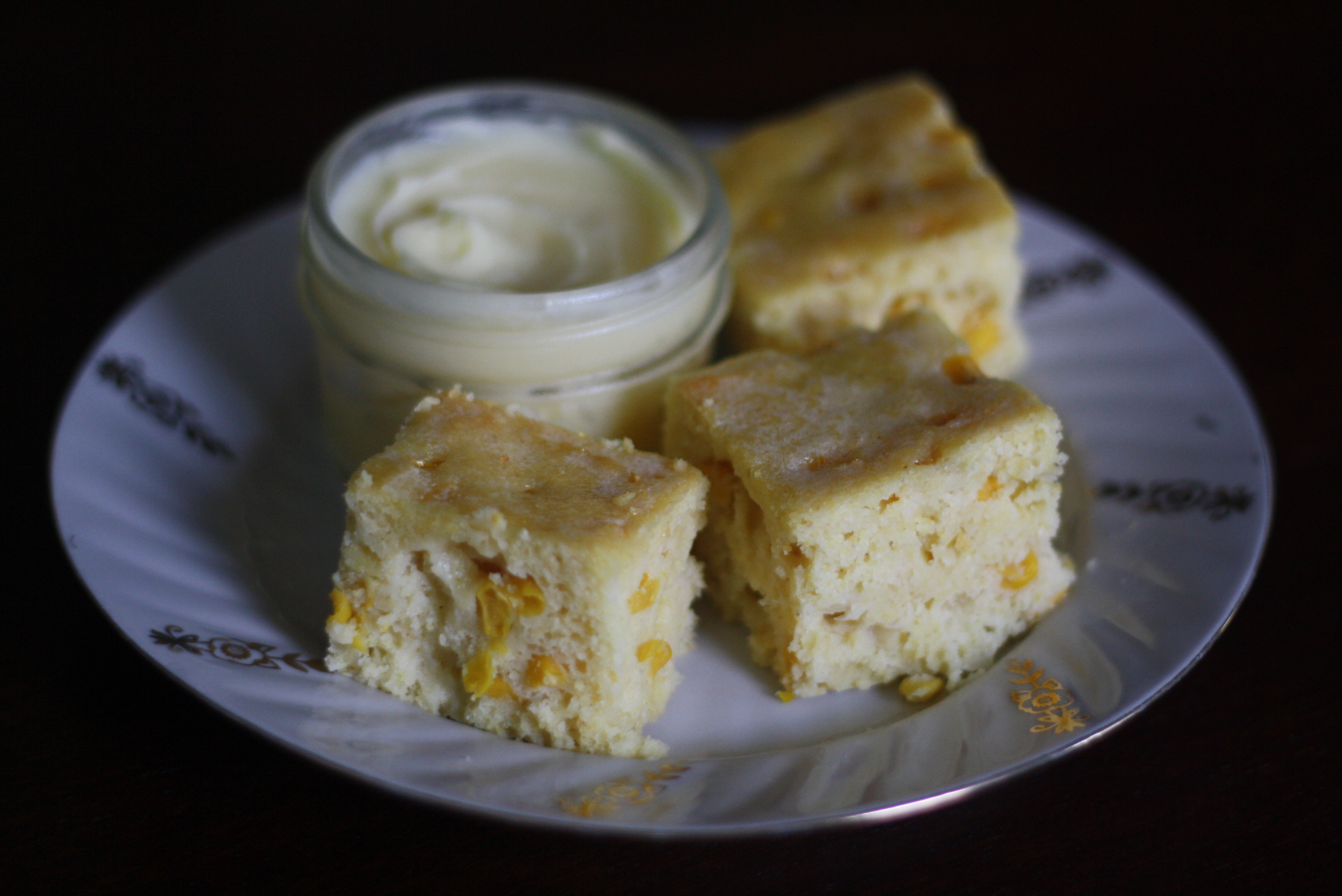 Sour Cream Cornbread  sour cream cornbread honey butter