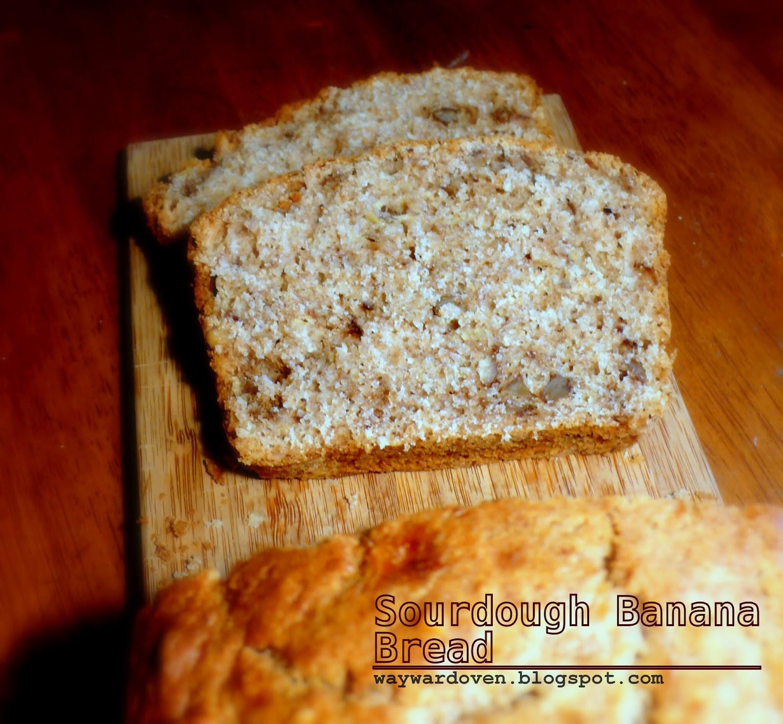 Sourdough Banana Bread  The Wayward Oven Sourdough banana bread