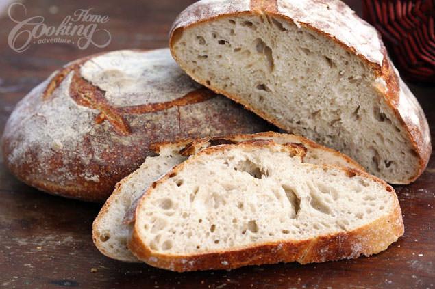 Sourdough Bread Recipe With Starter  Easy Sourdough Bread Vermont Bread Home Cooking Adventure