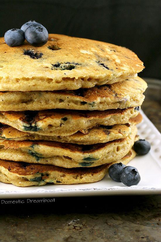 Sourdough Starter Pancakes  Overnight Blueberry Sourdough Pancakes