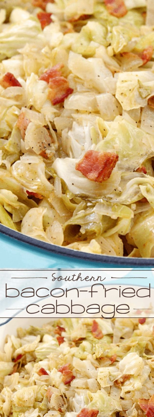 Southern Bacon Fried Cabbage  1000 ideas about Southern Food on Pinterest