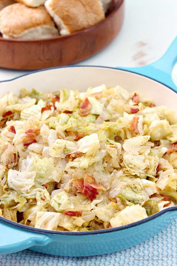 Southern Bacon Fried Cabbage  St Patrick s Day Menu Ideas Home Cooking Memories