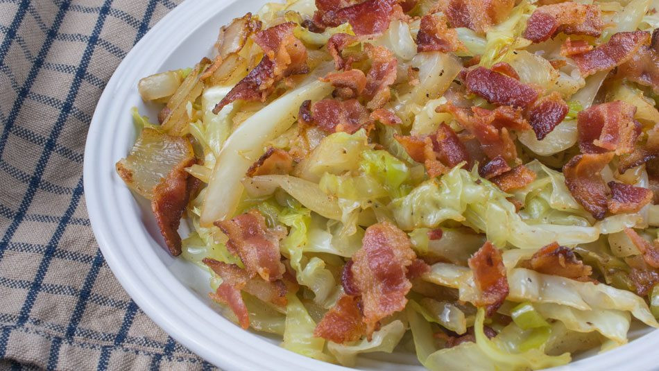 Southern Bacon Fried Cabbage  Southern Fried Cabbage