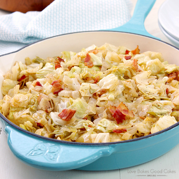 Southern Bacon Fried Cabbage  Southern Bacon Fried Cabbage