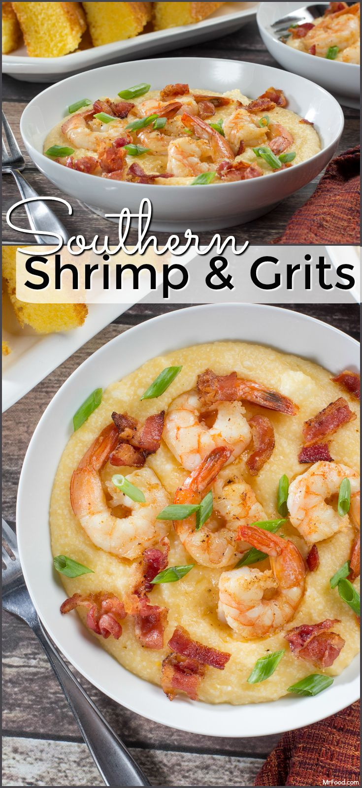 Southern Breakfast Recipes  Southern Shrimp and Grits Receta