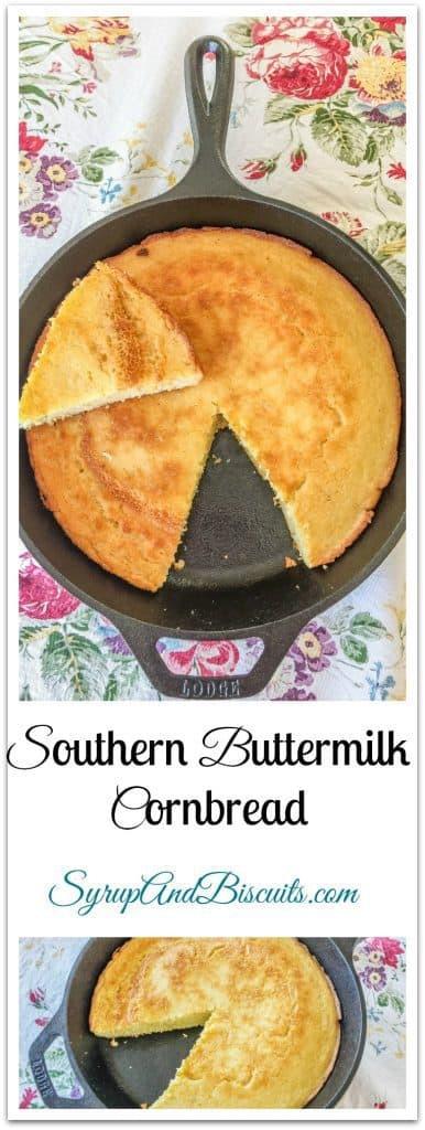Southern Buttermilk Cornbread  Southern Buttermilk Cornbread AKA Eggbread