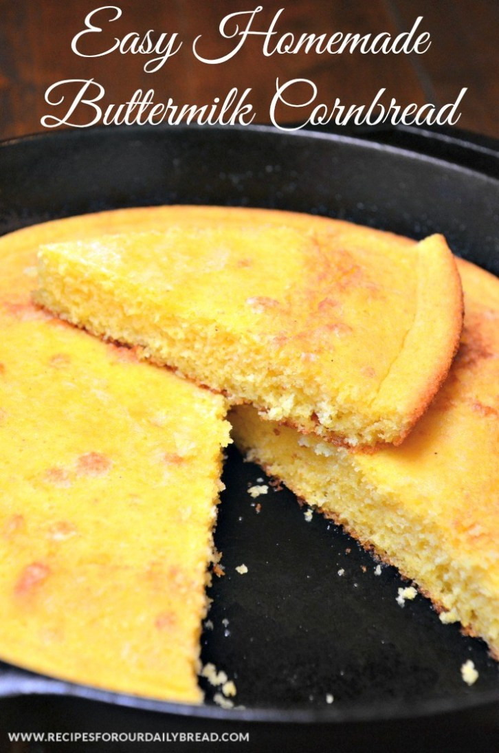 Southern Buttermilk Cornbread  HOW TO MAKE DELICIOUS SOUTHERN BUTTERMILK CORNBREAD