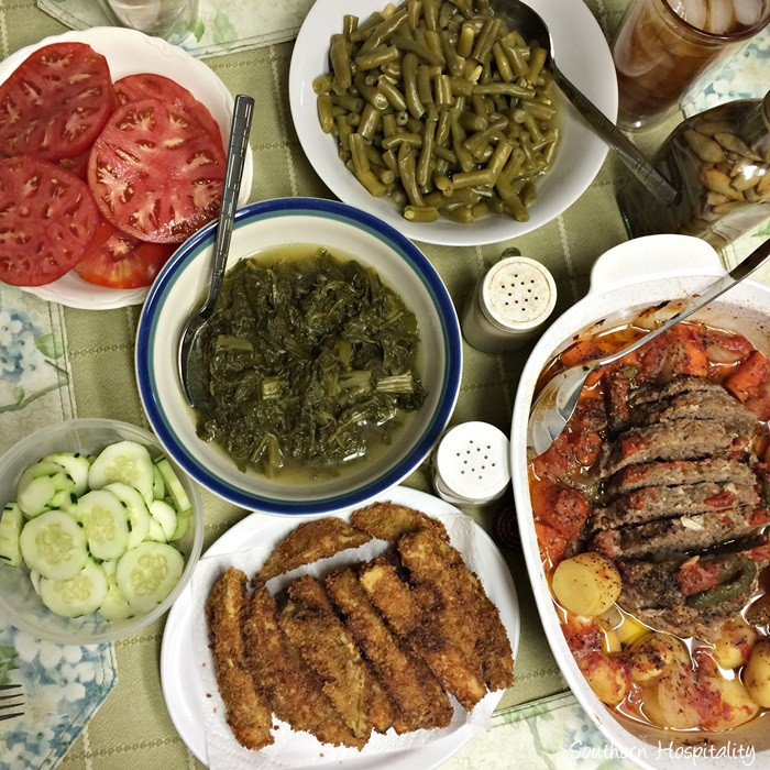 Southern Meatloaf Recipe  Dad s Southern Garden & Meatloaf Recipe Southern Hospitality