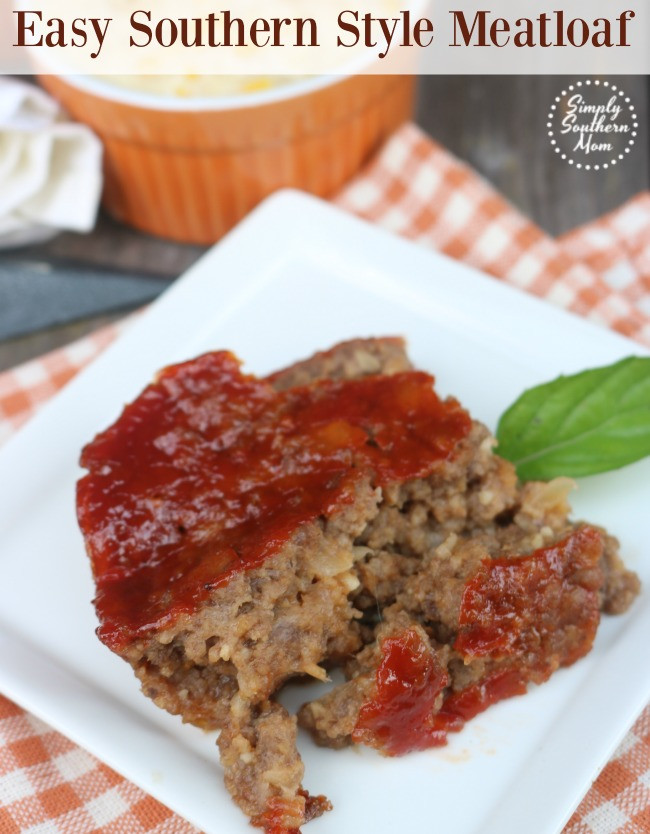 Southern Meatloaf Recipe  Easy Southern Style Meatloaf Recipe Simply Southern Mom