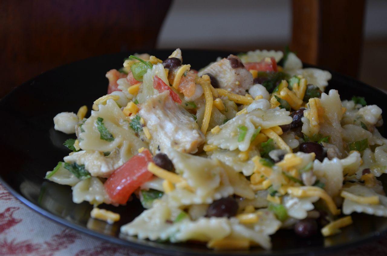 Southwest Pasta Salad  Recipe Shoebox Southwestern Pasta Salad