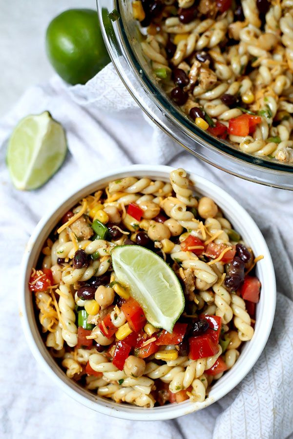 Southwest Pasta Salad  Southwest Pasta Salad with Cilantro Lime Dressing • Food
