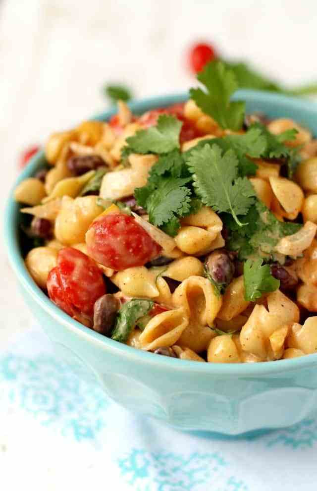 Southwest Pasta Salad  Crowd Pleasing Southwest Pasta Salad The Pretty Bee