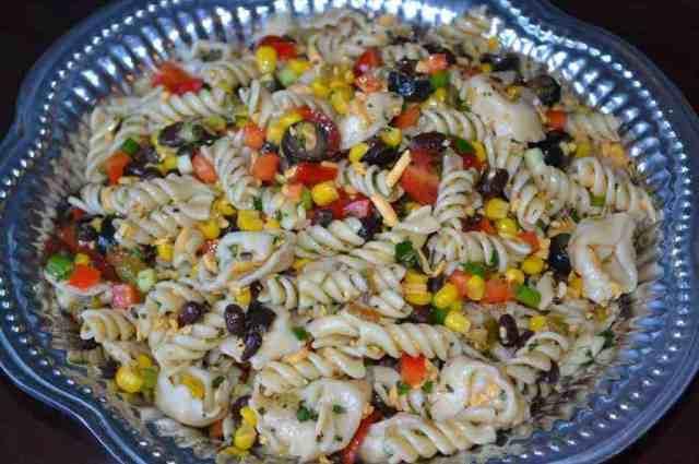 Southwest Pasta Salad  Southwestern Pasta Salad with Cilantro Lime Dressing