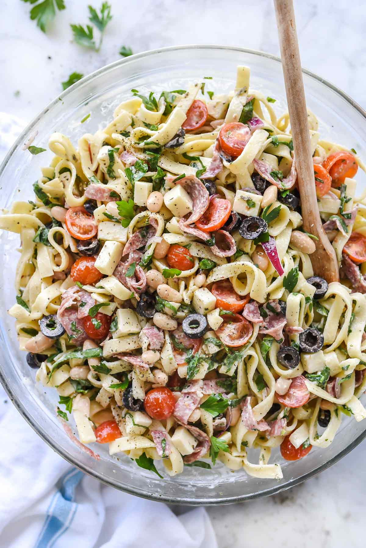 Spaghetti Salad Recipe  Creamy Tuscan Pasta Salad