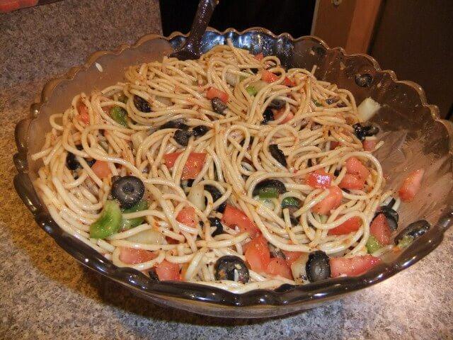 Spaghetti Salad Recipe  Spaghetti Salad Recipe from CDKitchen