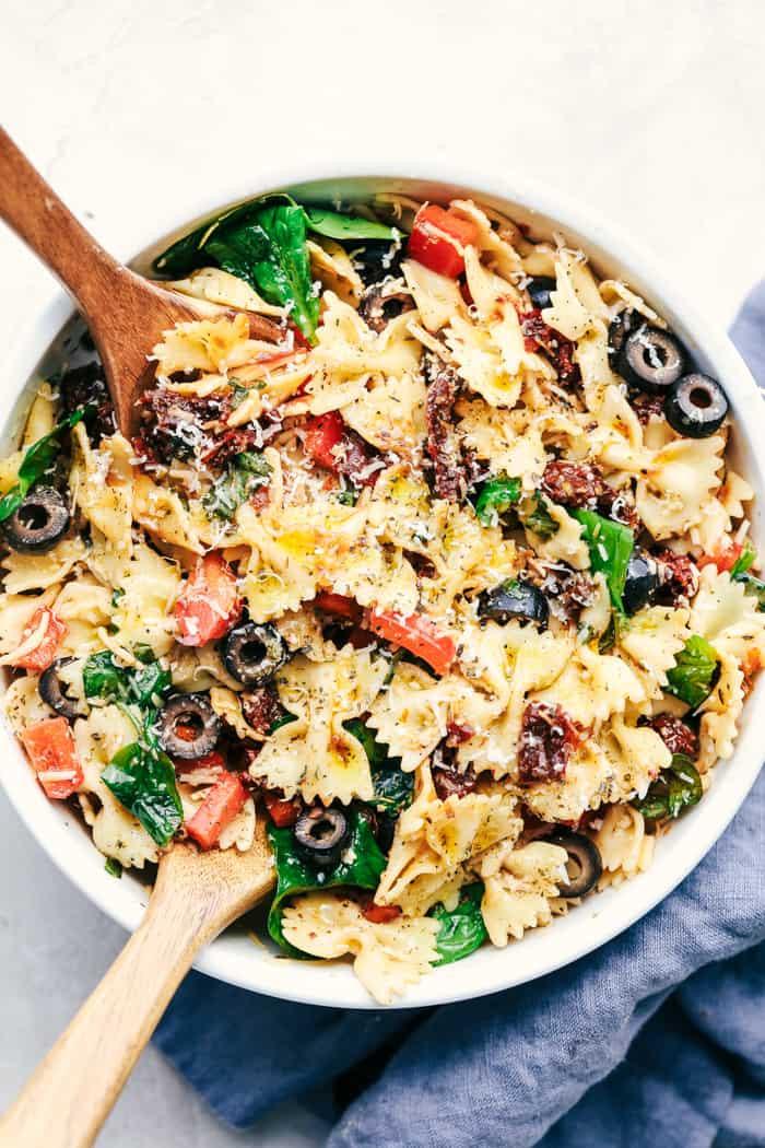 Spaghetti Salad Recipe  Tuscan Pasta Salad
