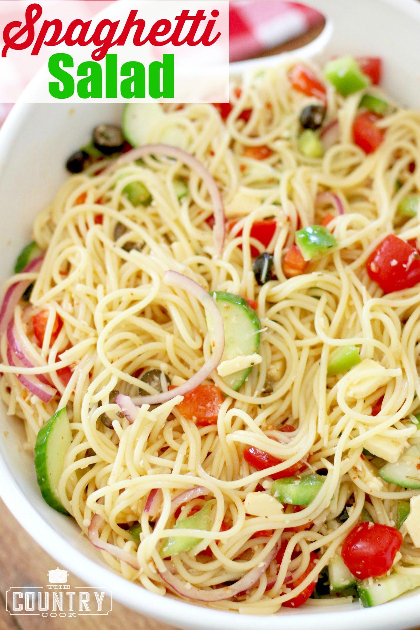 Spaghetti Salad Recipe  Spaghetti Salad The Country Cook