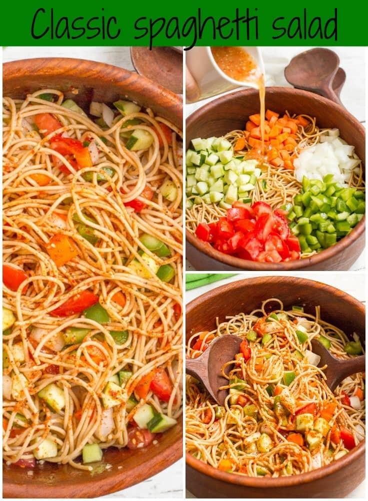 Spaghetti Salad Recipe  Classic spaghetti salad Family Food on the Table
