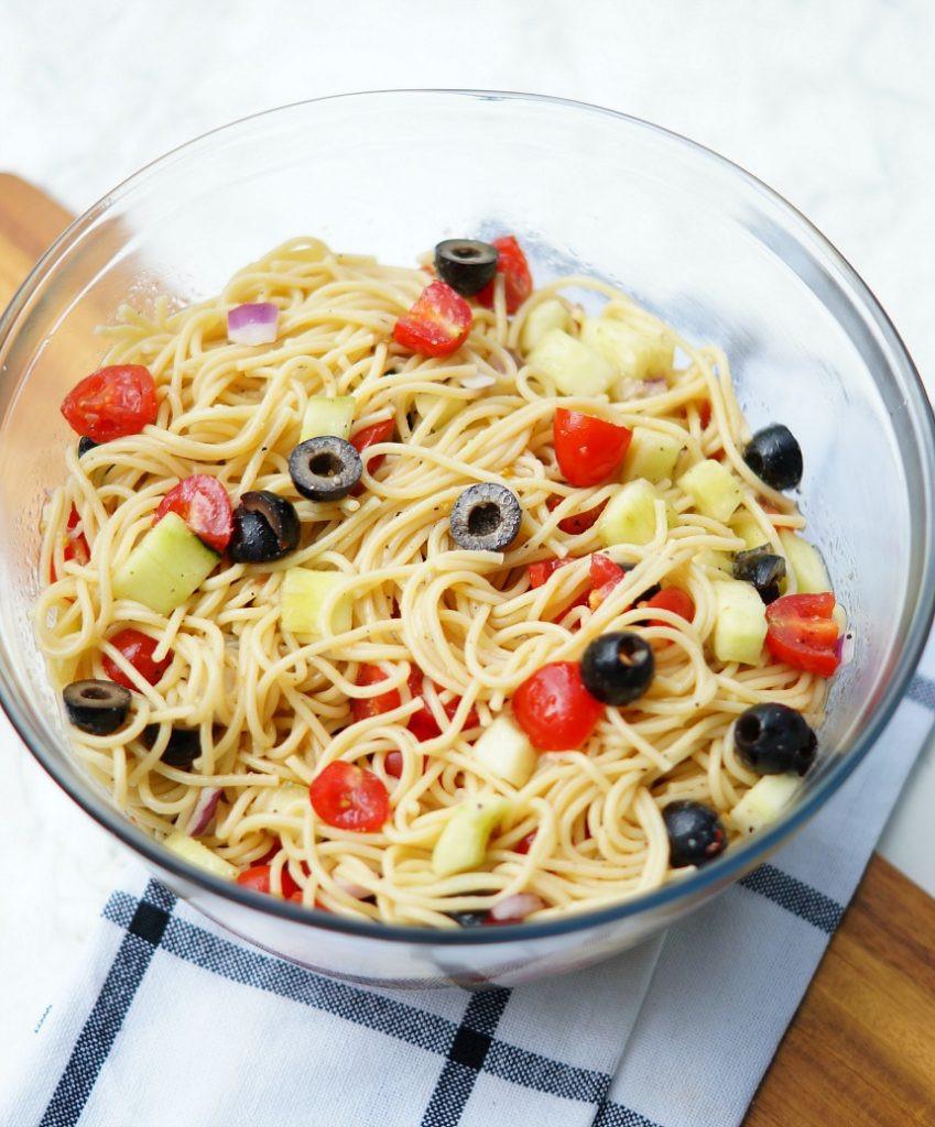 Spaghetti Salad Recipe  Easy Summer Spaghetti Salad