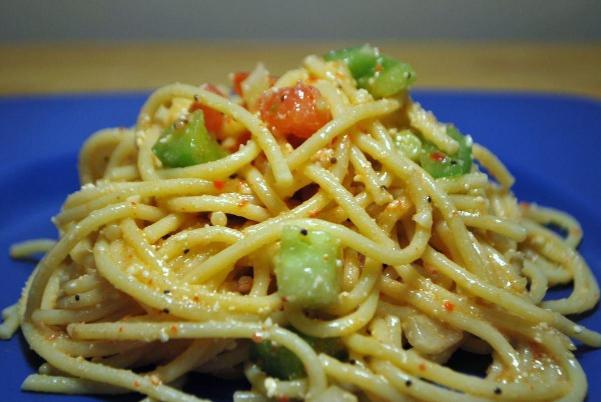 Spaghetti Salad Recipe  Time to cool down Spaghetti Salad SavoryReviews