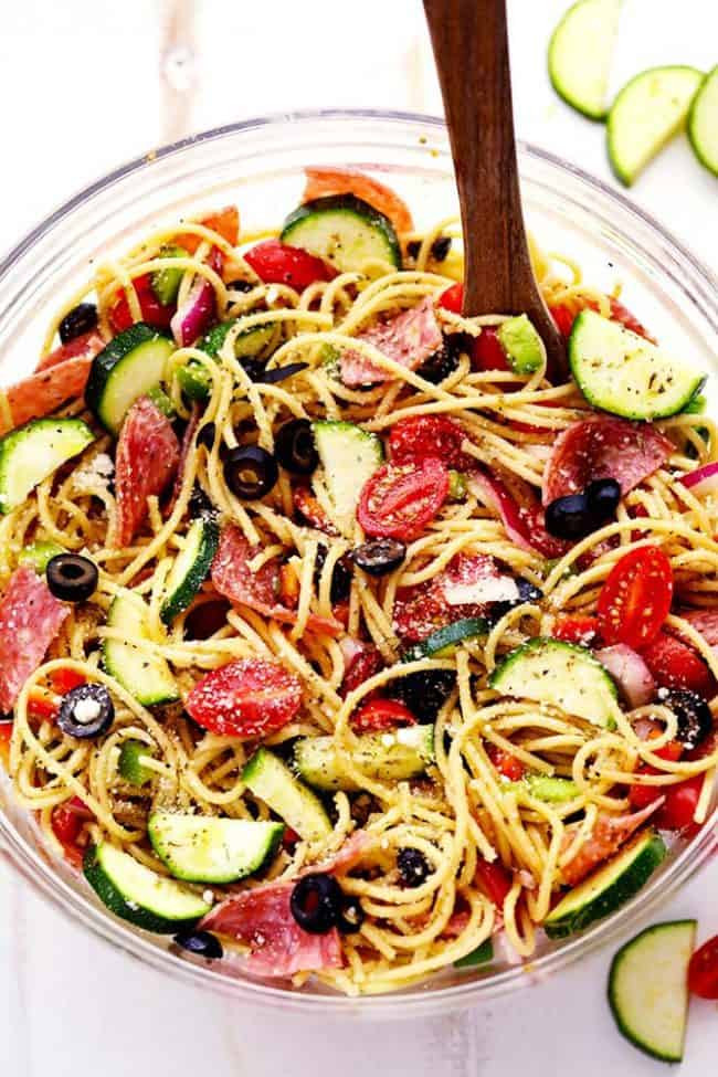 Spaghetti Salad Recipe  summer spaghetti salad