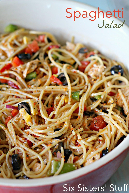 Spaghetti Salad Recipe  15 Healthy Summer Salads Sew Much Ado