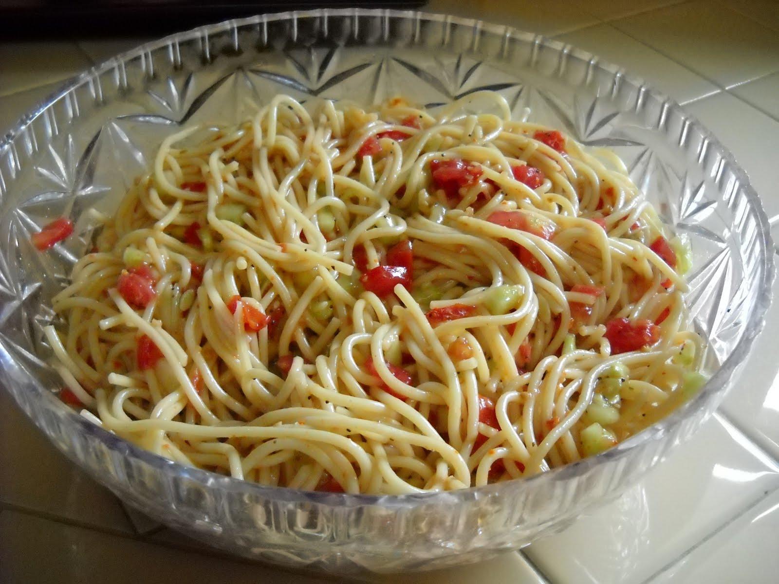 Spaghetti Salad Recipe  A Diva s Garden Spaghetti Salad Recipe