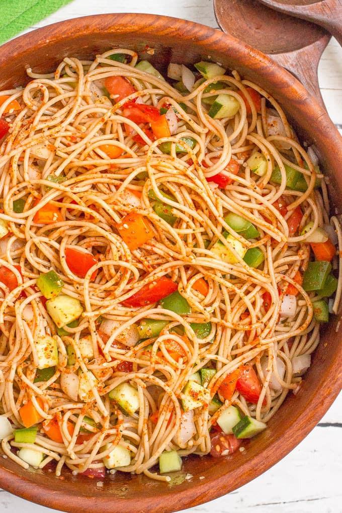 Spaghetti Salad Recipes  cold spaghetti salad