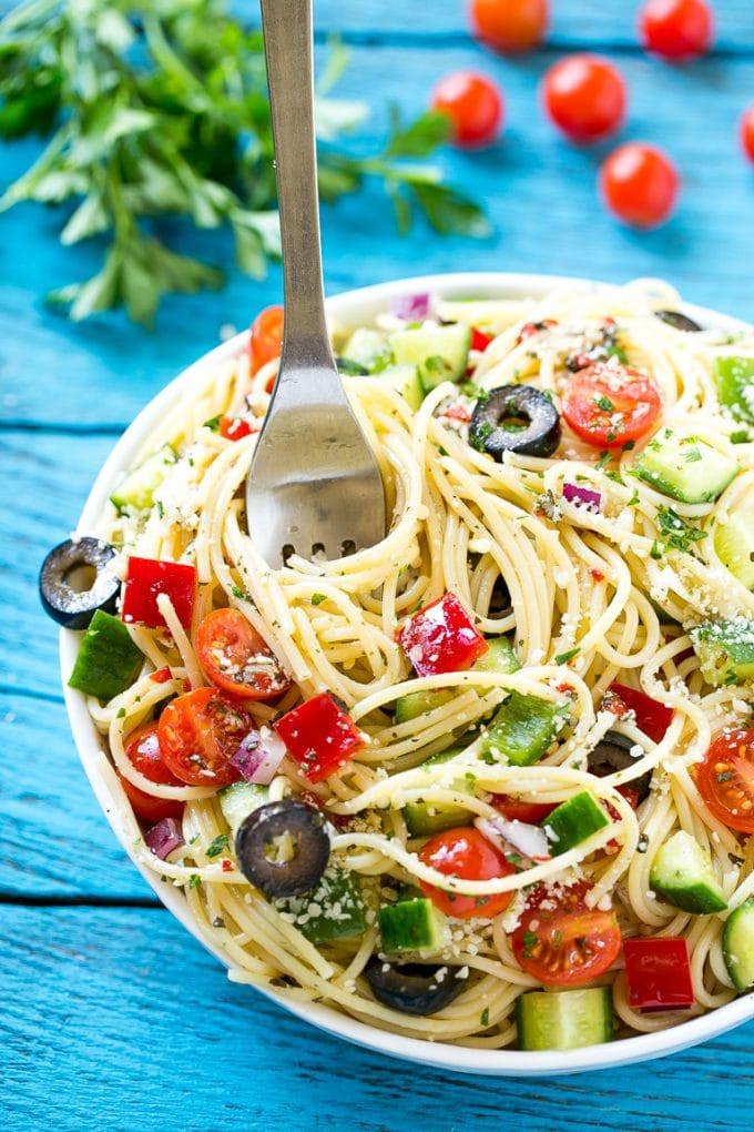 Spaghetti Salad Recipes  Spaghetti Salad Dinner at the Zoo