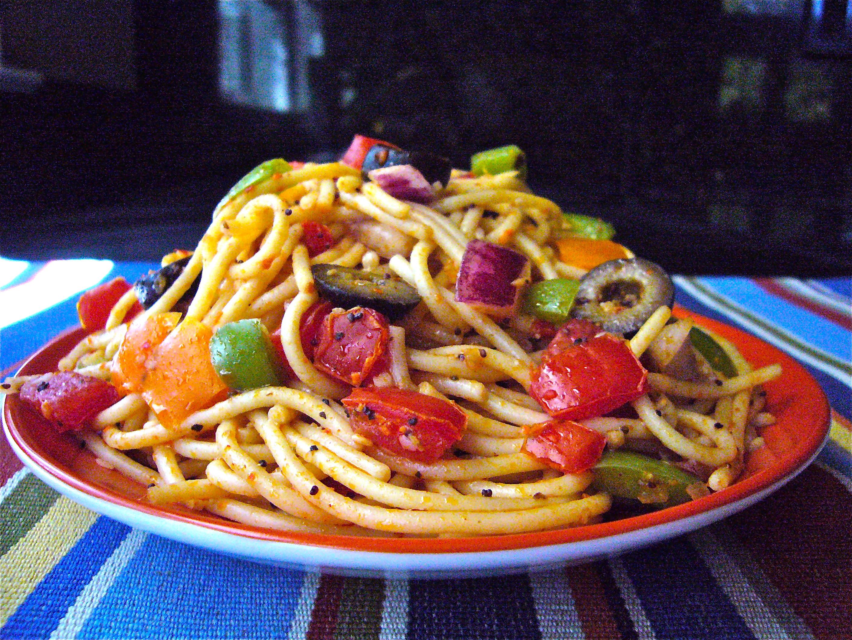Spaghetti Salad Recipes  spaghetti pasta salad recipe salad supreme