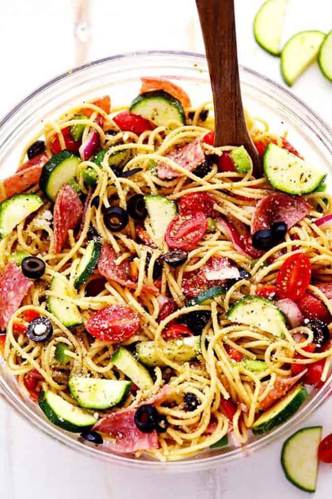 Spaghetti Salad Recipes  Italian Spaghetti Salad