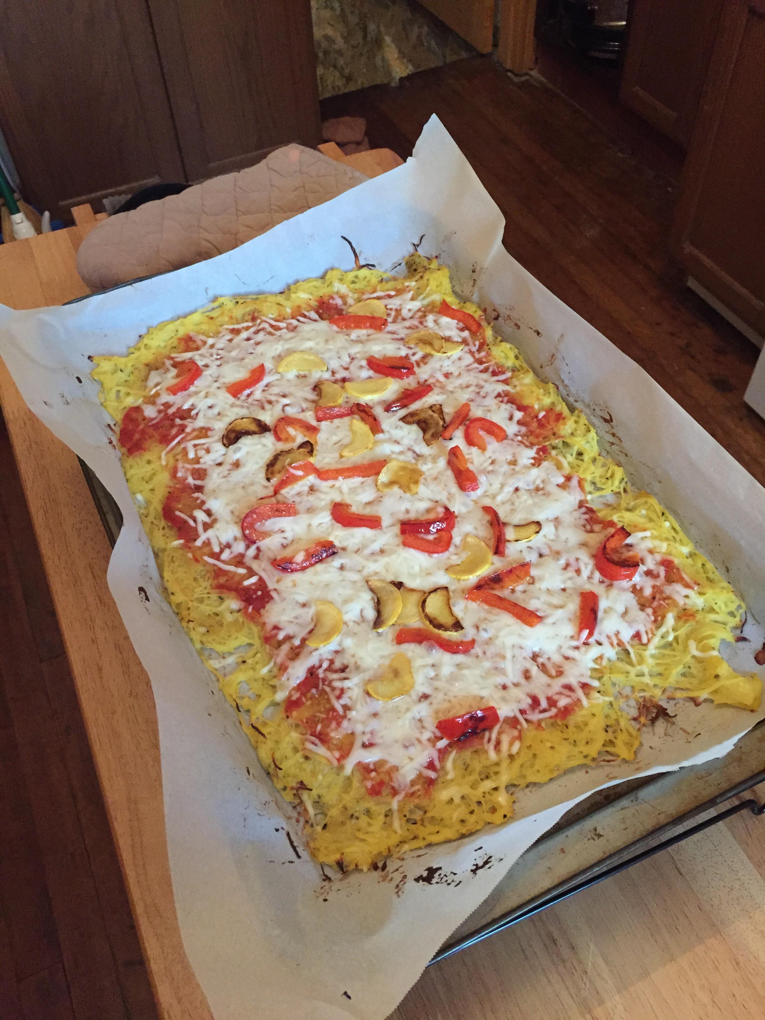 Spaghetti Squash Pizza Crust  What I Ate Spaghetti Squash Pizza Crust