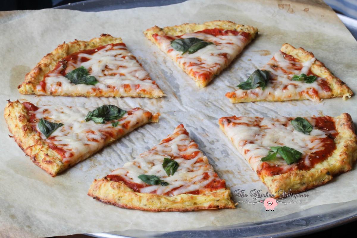 Spaghetti Squash Pizza Crust  Cheesy Spaghetti Squash Pizza
