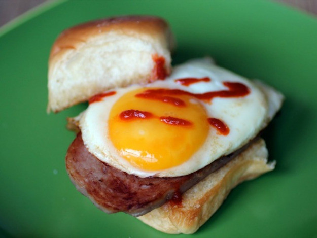 Spam Breakfast Recipes  Spam and Egg Breakfast Sandwiches Recipe