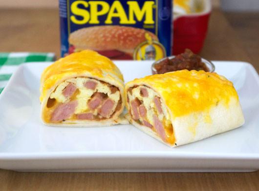 Spam Breakfast Recipes  Spam Breakfast Burritos Recipe