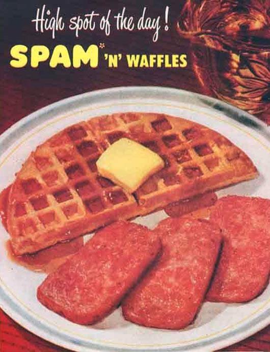 Spam Breakfast Recipes  Spam N Waffles Recipe
