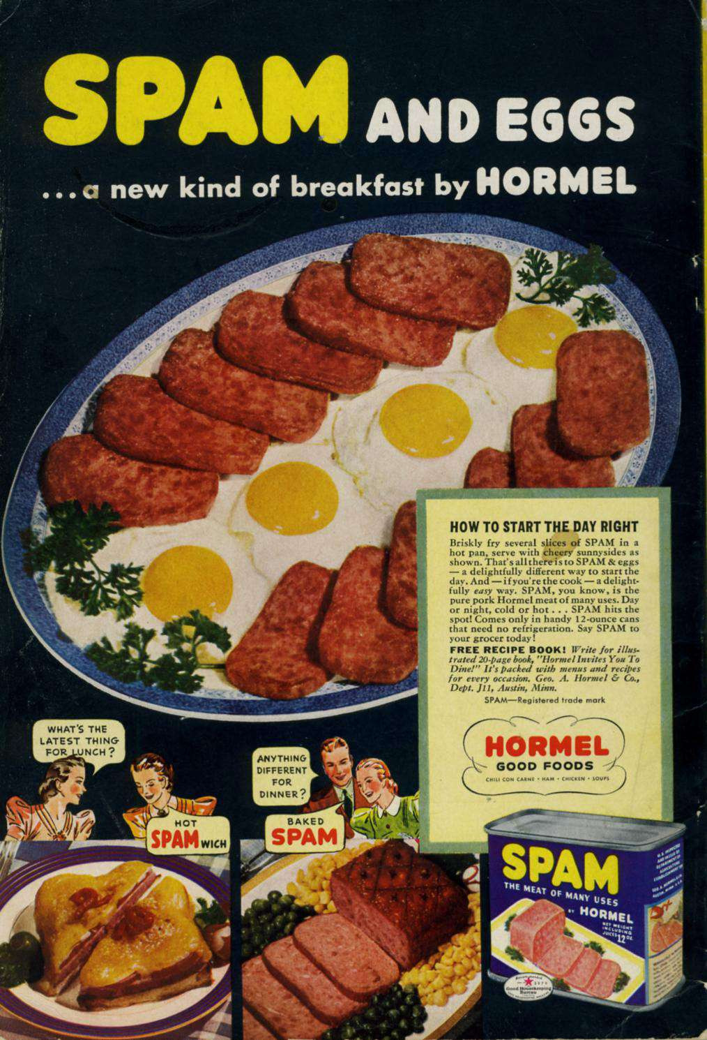 Spam Breakfast Recipes  7 Vintage Spam Breakfast Recipes That You Might Actually
