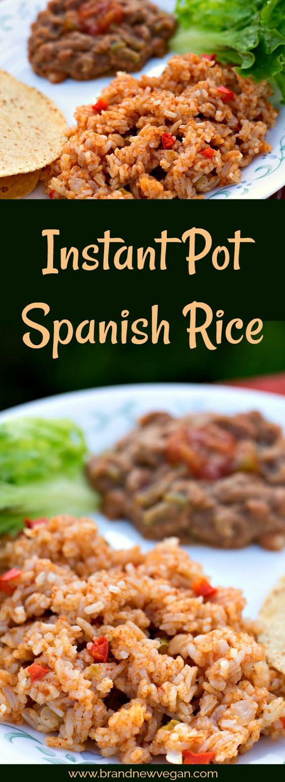Spanish Rice Instant Pot  Instant Pot Spanish Rice Brand New Vegan