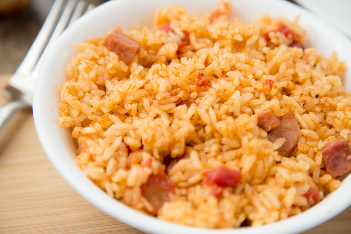 Spanish Rice Instant Pot  Instant Pot Spanish Rice with Ham Life is Sweeter By Design