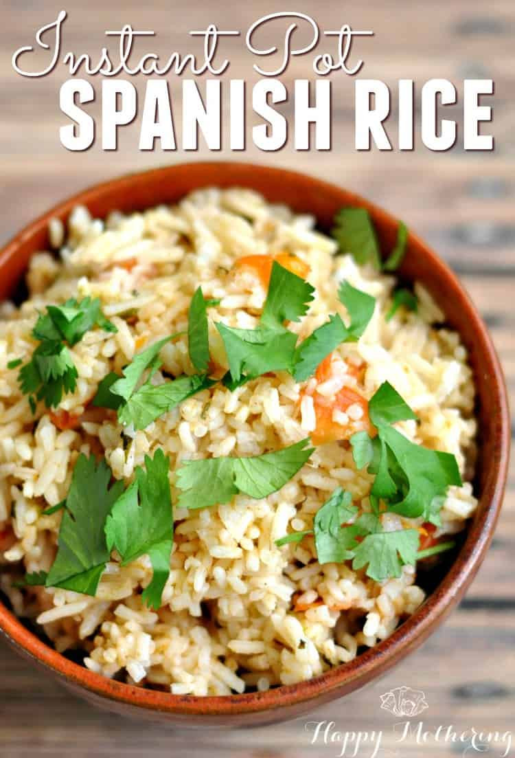 Spanish Rice Instant Pot  Instant Pot Spanish Rice Recipe Happy Mothering