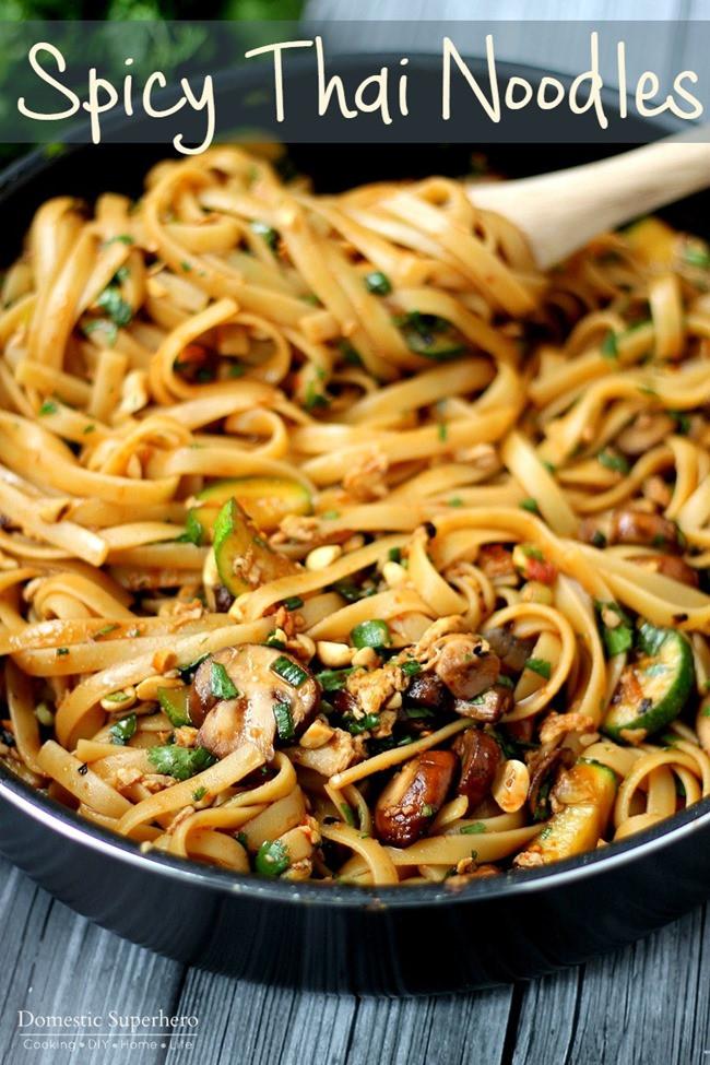 Spicy Thai Noodles  e Pot Spicy Thai Noodles Domestic Superhero